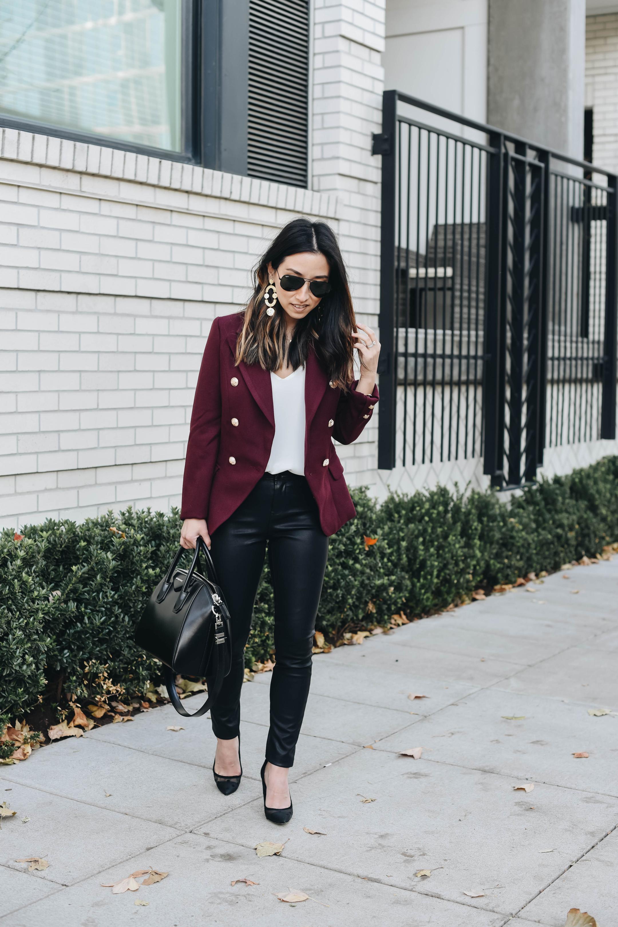 Lioness burgundy blazer