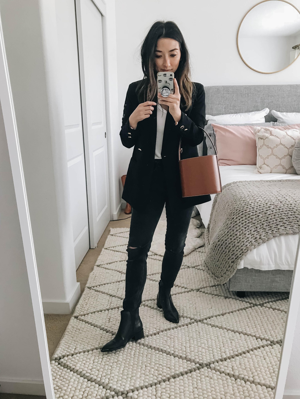 Mural black oversized blazer