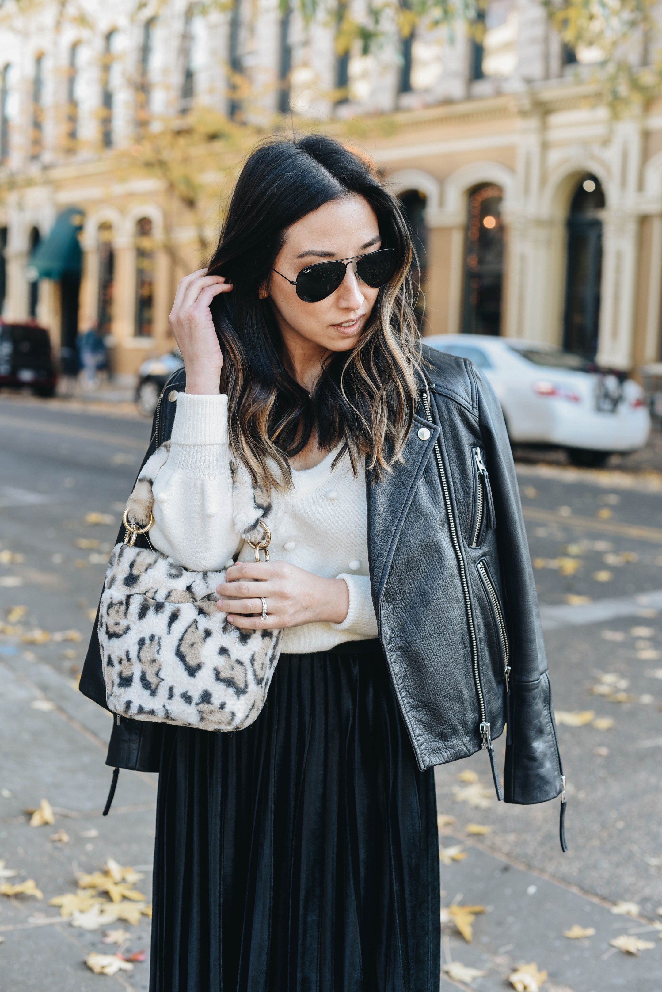 Topshop leopard mini bag