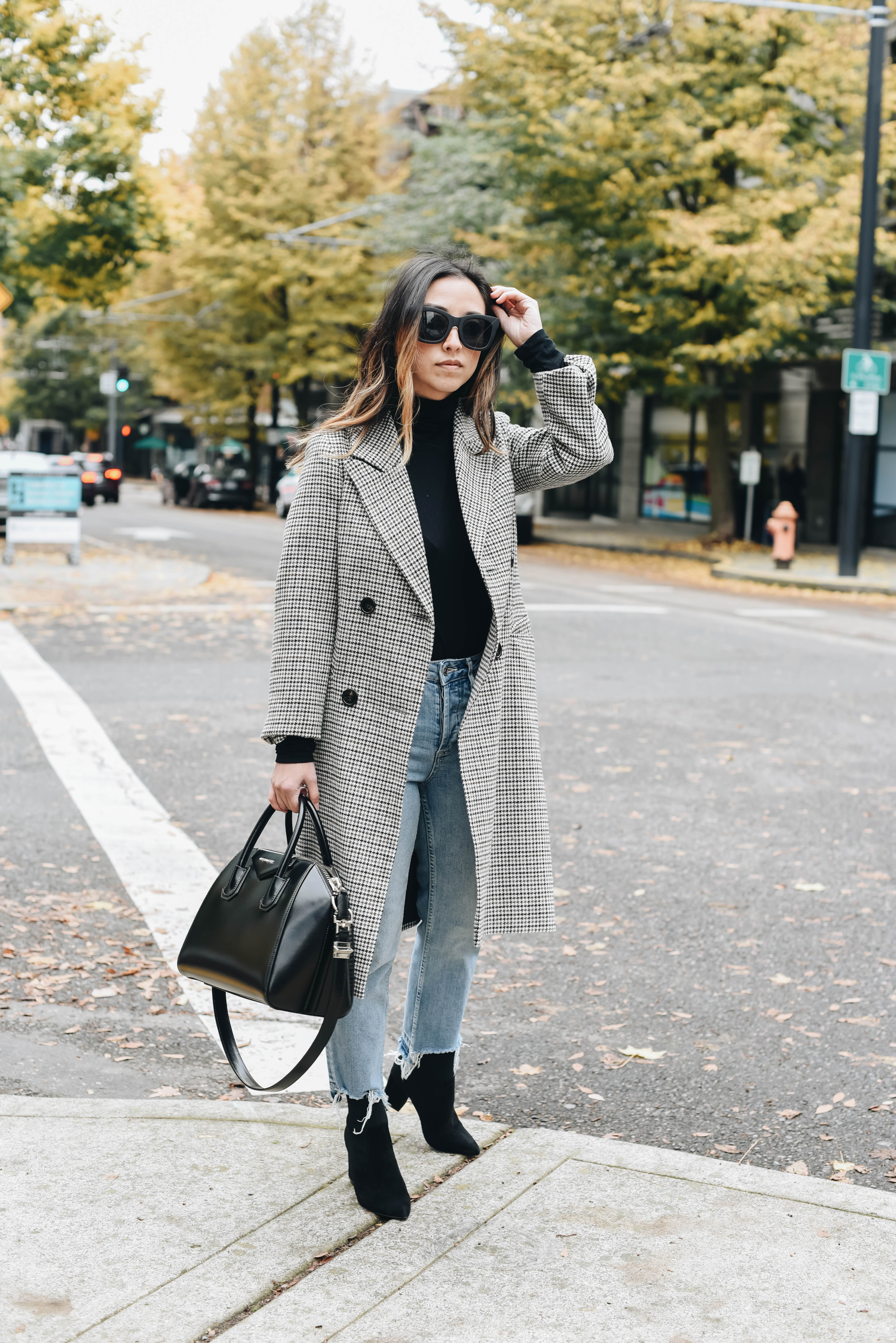 Topshop petite check coat