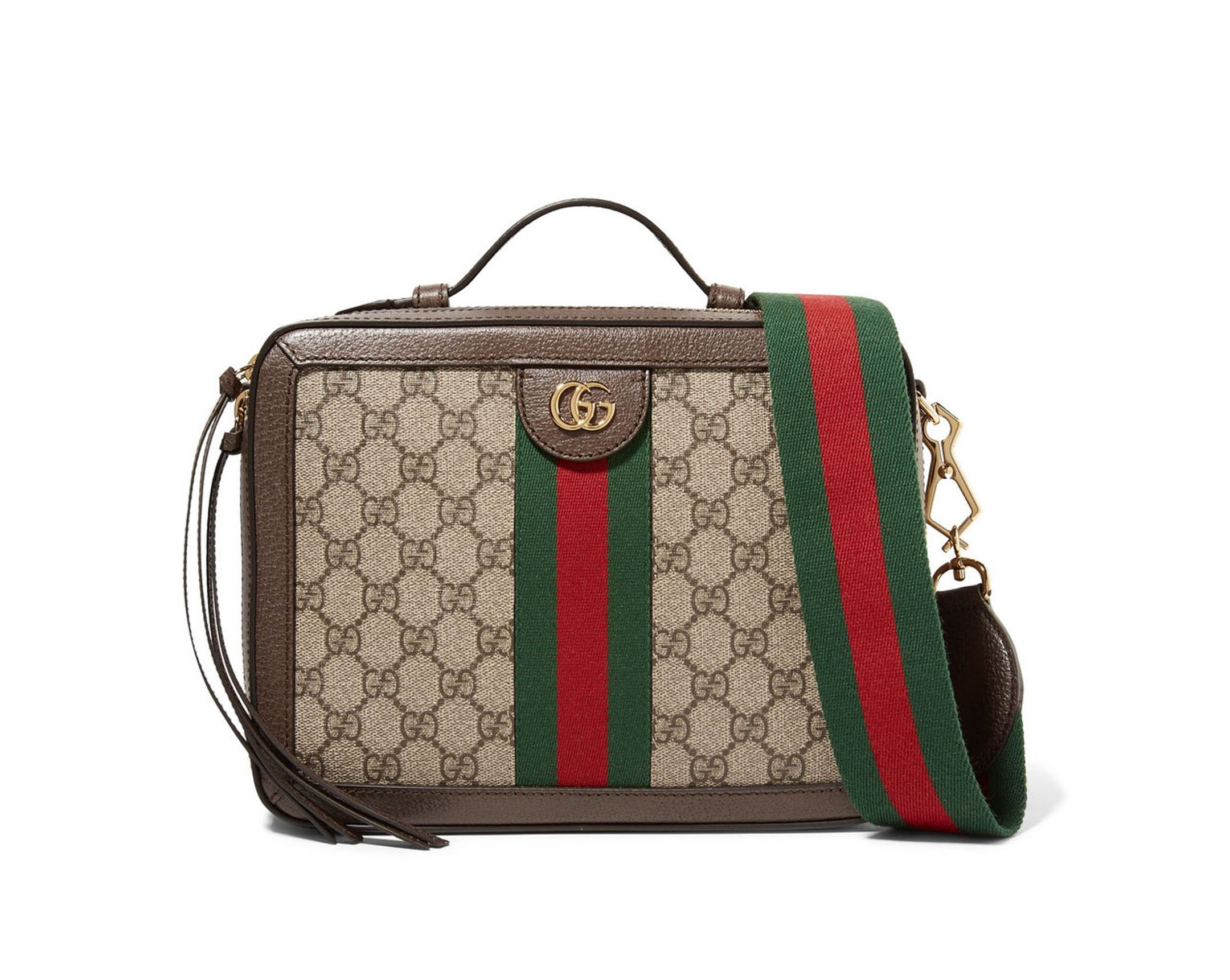GUCCI Ophidia small textured leather-trimmed printed coated-canvas camera  bag 8d09006cf0824