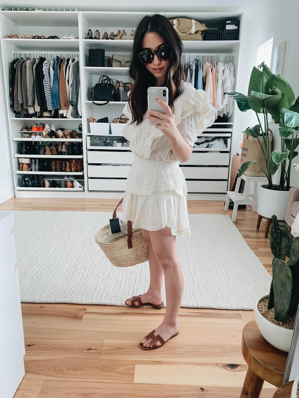 loveshack fancy mini dress