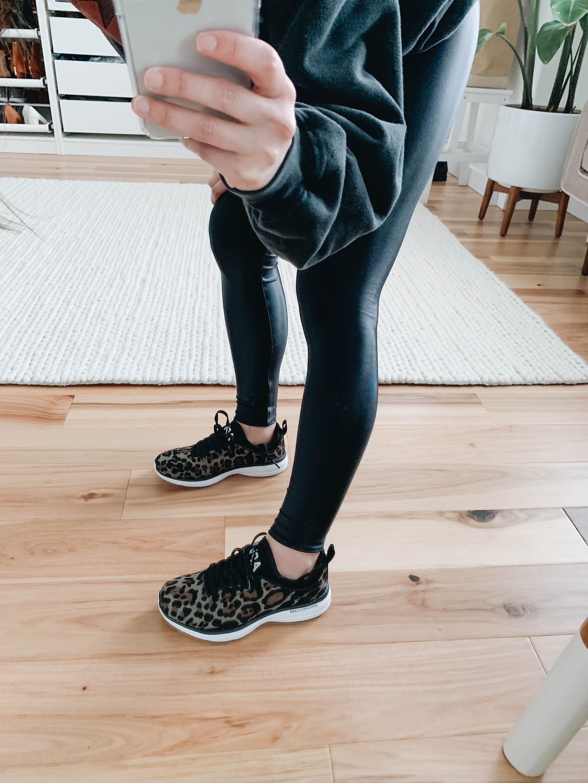 leopard apl sneakers