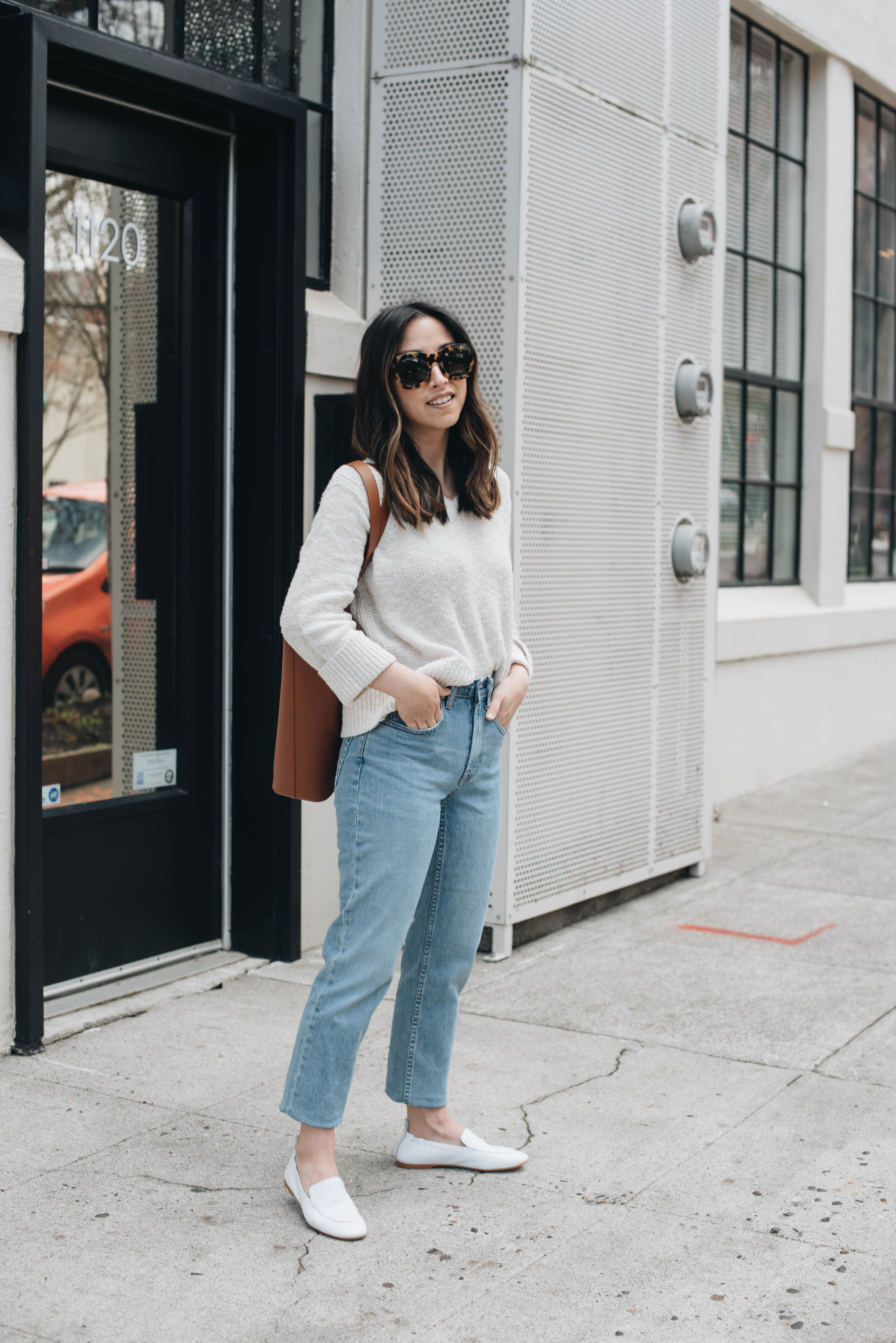 Everlane cheeky straight jeans