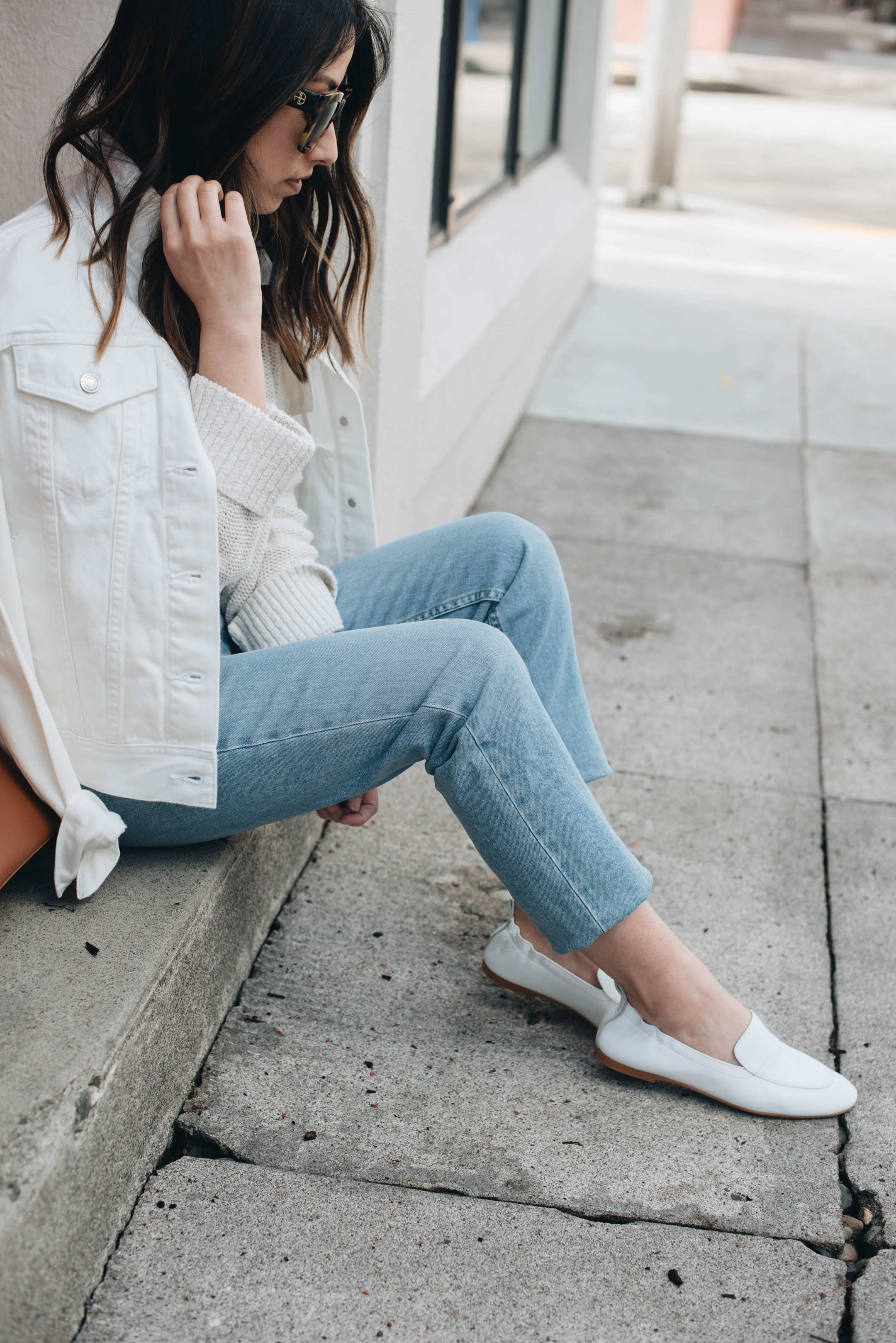 Everlane Day Loafers in white