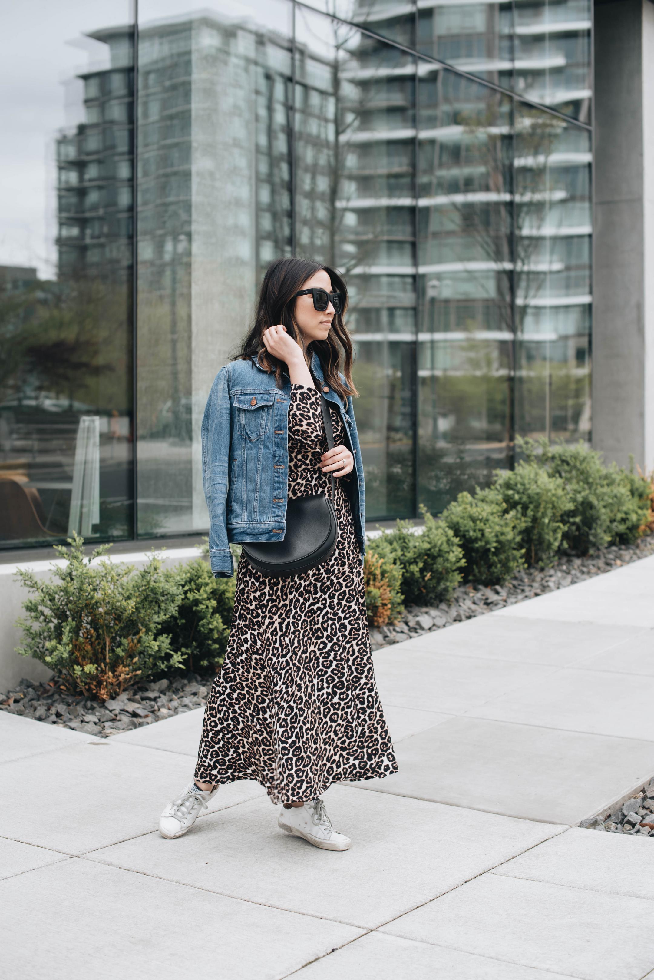 Leopard wrap dress 2 ways