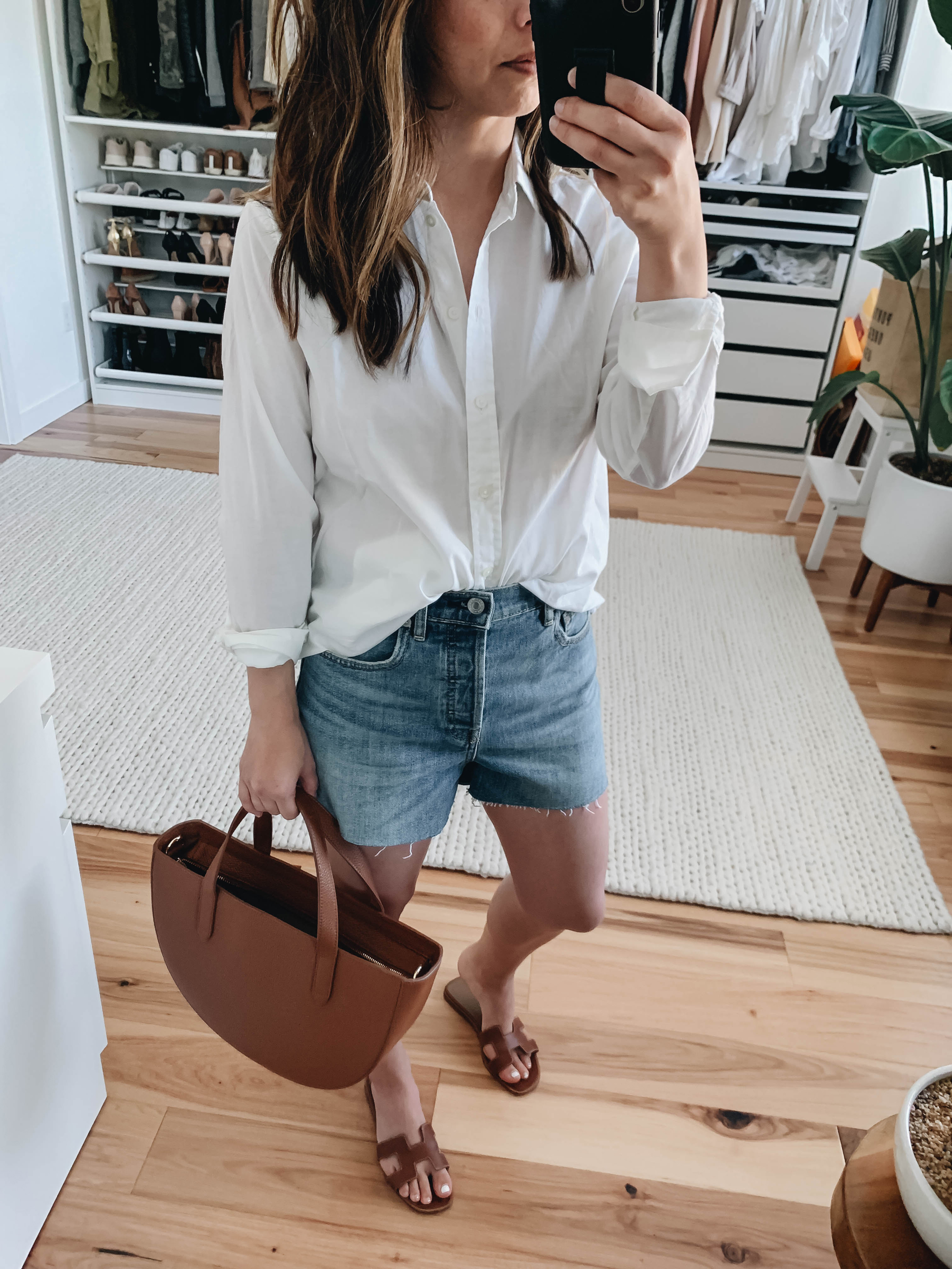 Everlane denim shorts