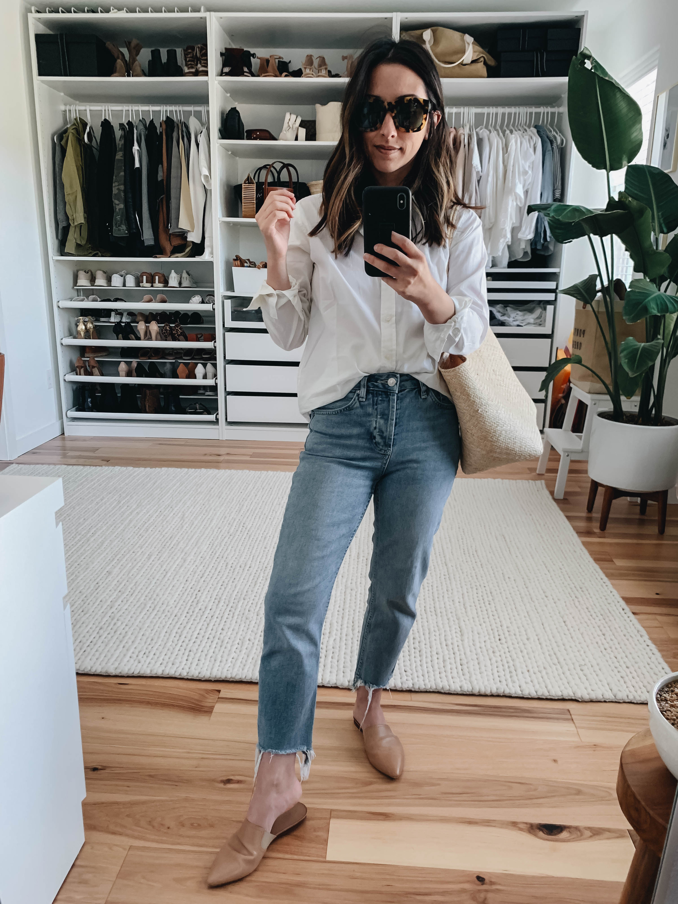 Everlane white button down