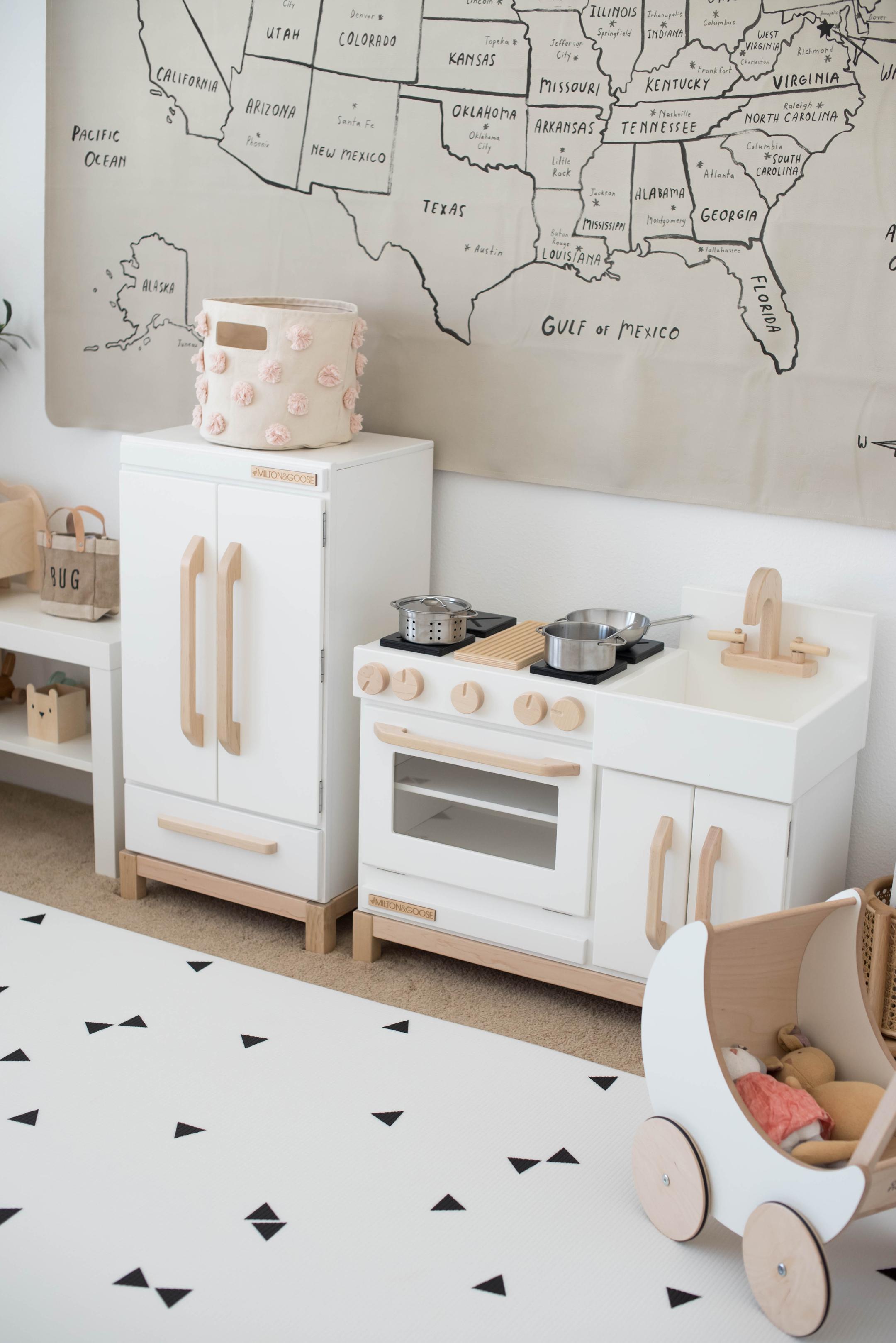 Milton & Goose white and beige kitchen set