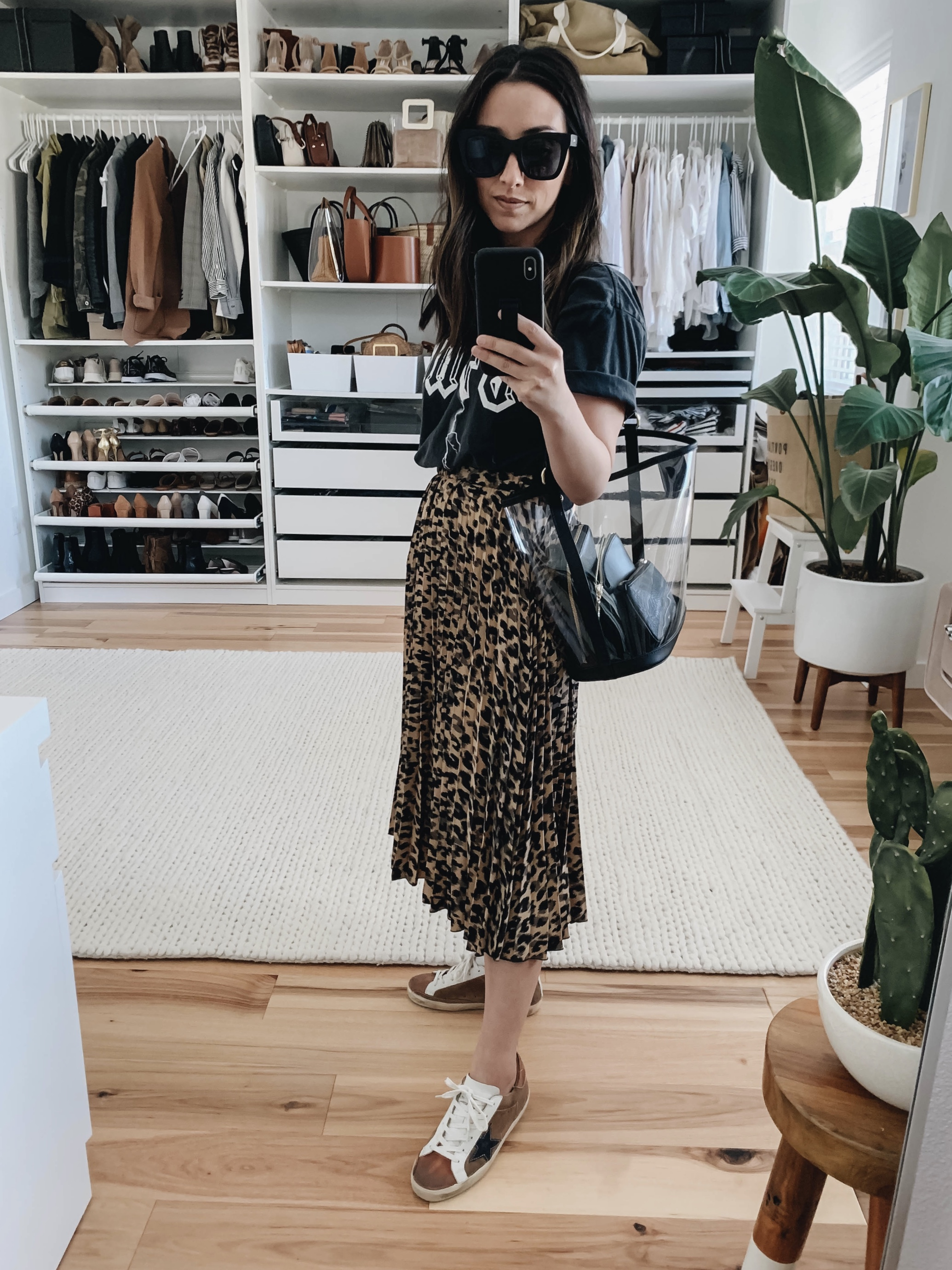 Halogen leopard skirt