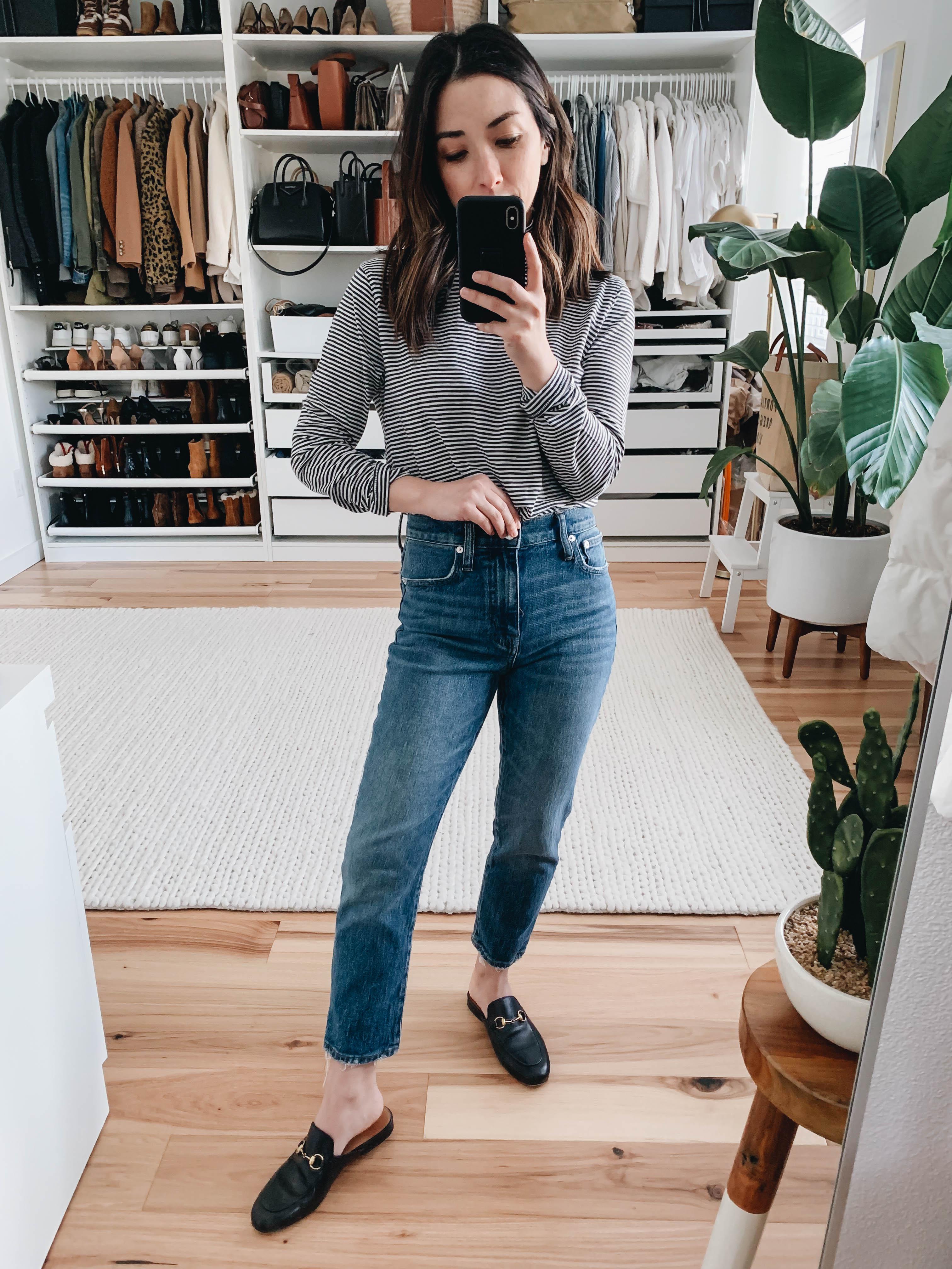 Madewell slim boyfriend crop jeans